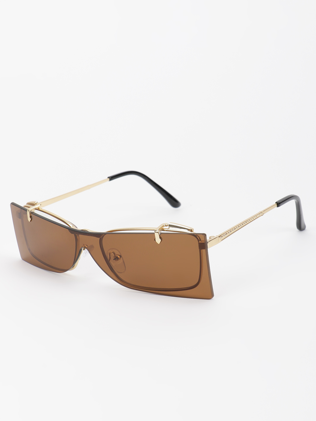 Pataaka Brown Adjustable Frame Square Sunglasses 1