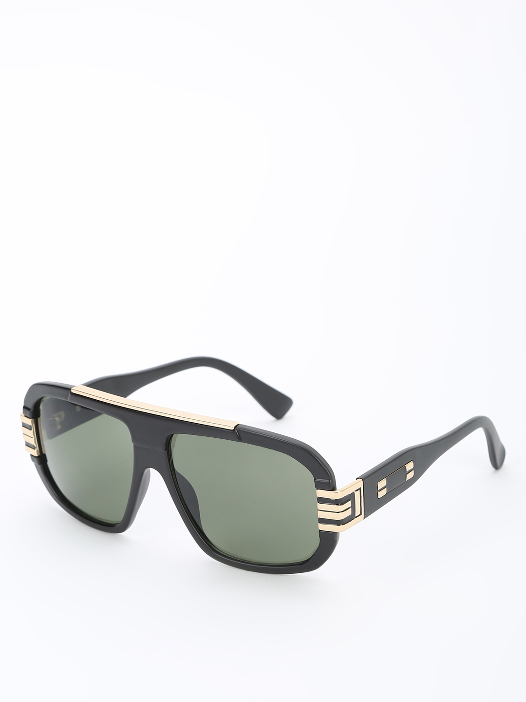 Pataaka Black Wide Frame Classic Sunglasses 1