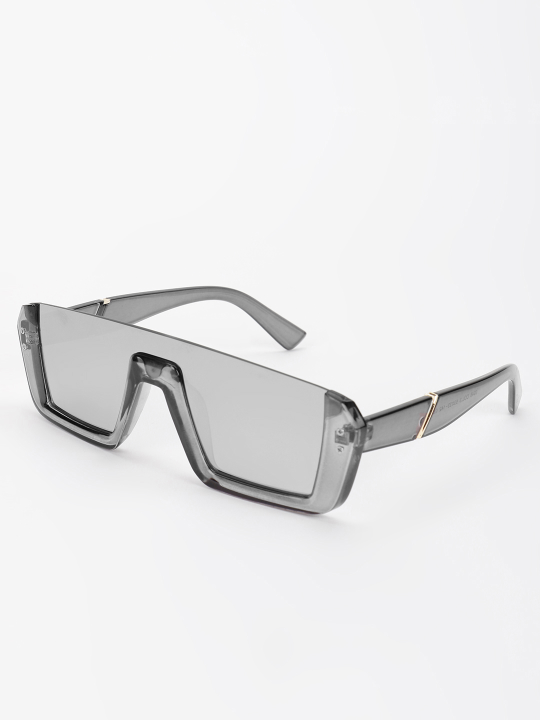 Pataaka Grey Mirrored Square Tinted Sunglasses 1
