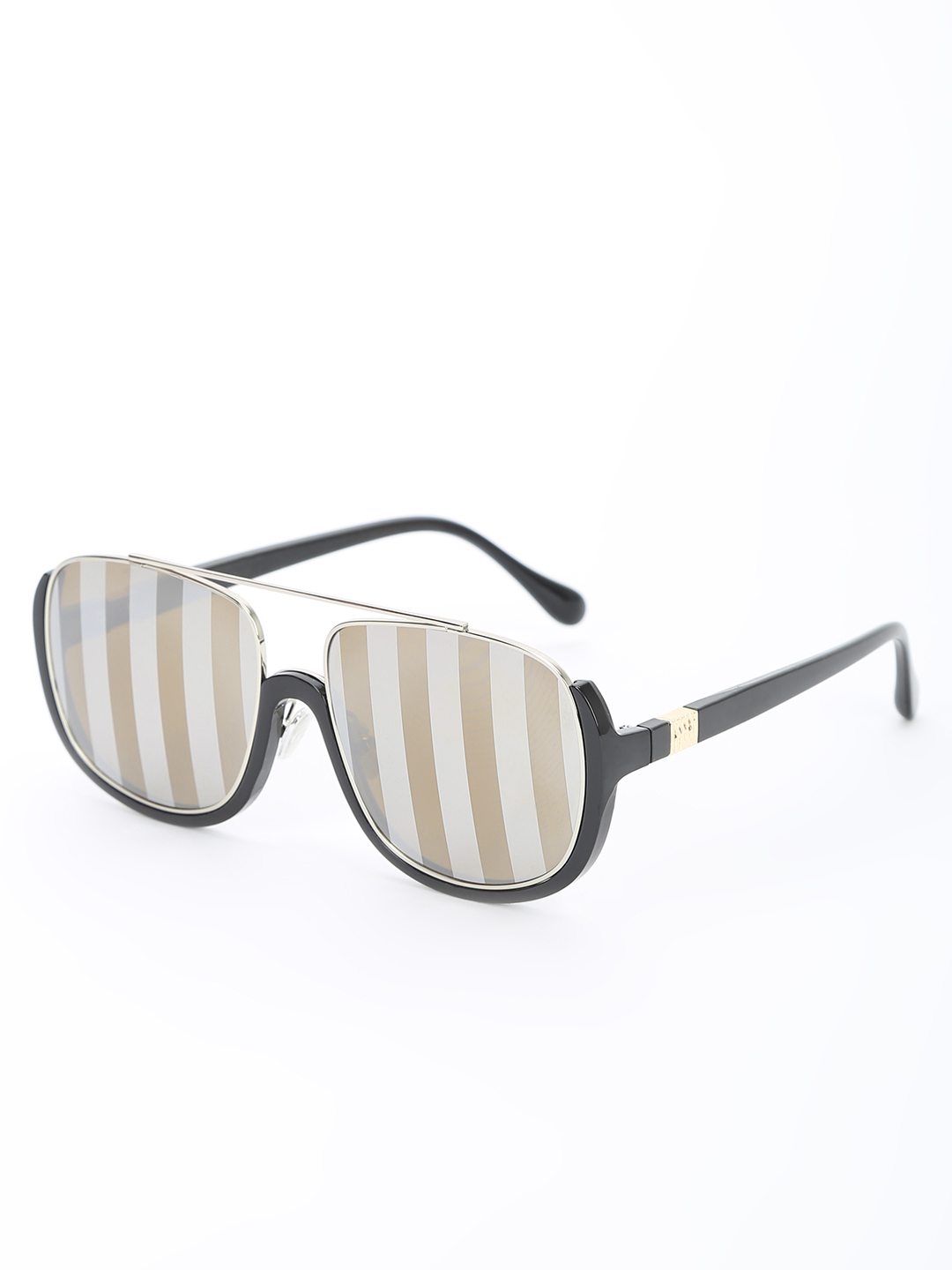 Pataaka Brown Texture Mirrored Pilot Sunglasses 1