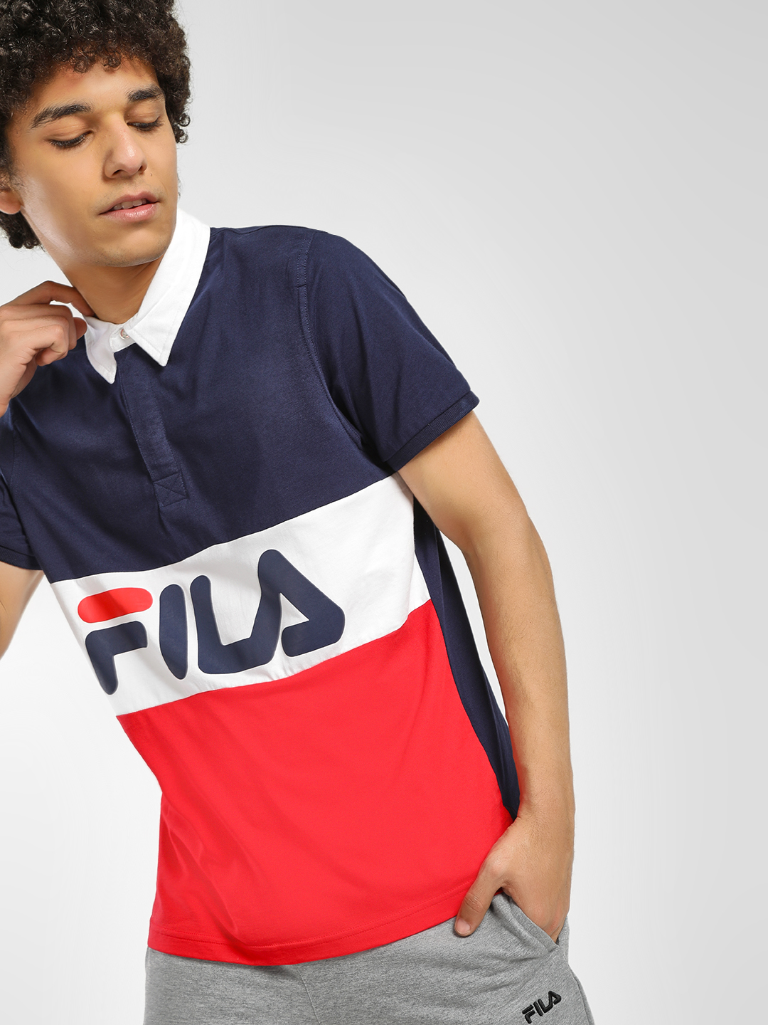 Fila Multi Cut And Sew Polo Shirt 1