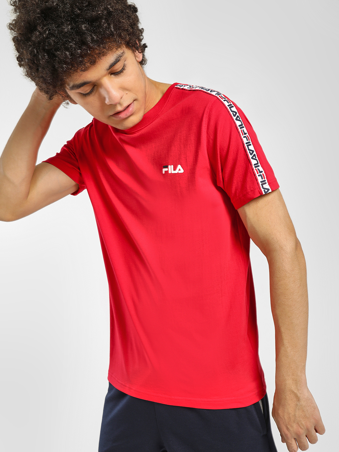 Fila Red Slogan Tape T-Shirt 1