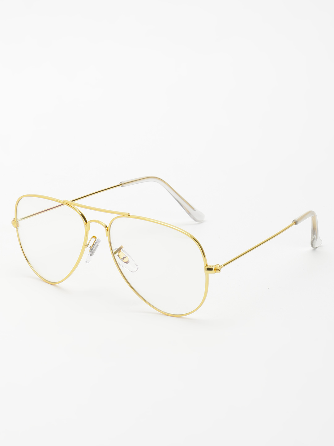 KOOVS Gold Clear Lens Pilot Sunglasses 1