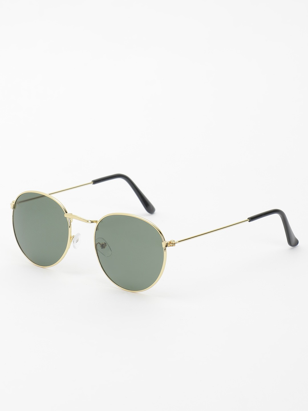 KOOVS Black Tinted Lens Round Sunglasses 1