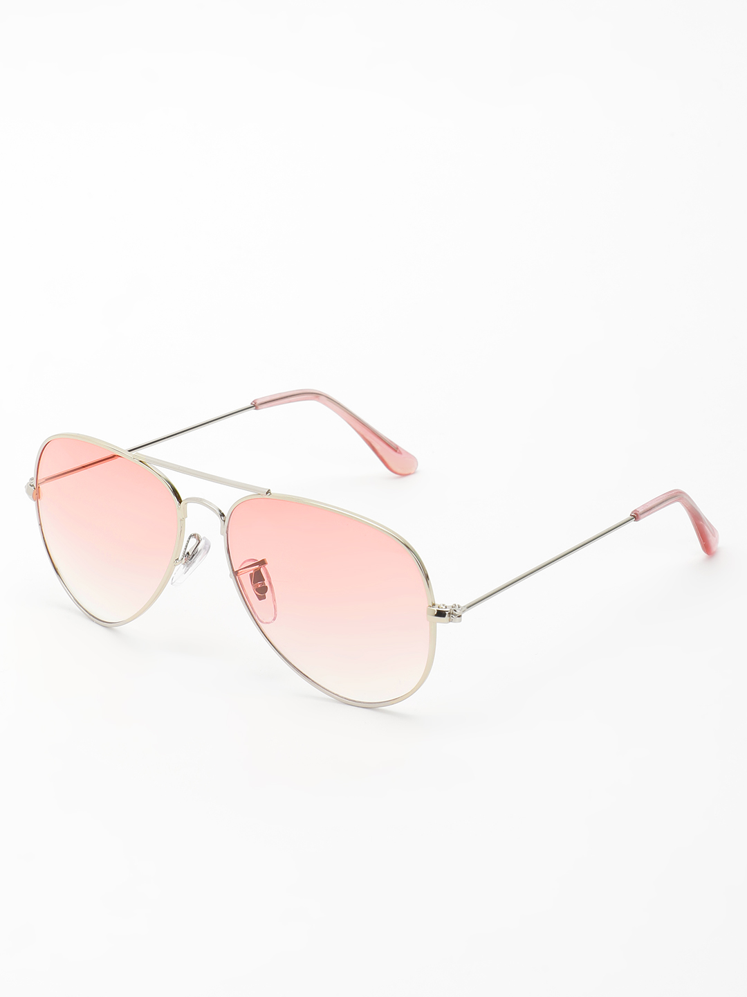 KOOVS Pink Coloured Lens Pilot Sunglasses 1