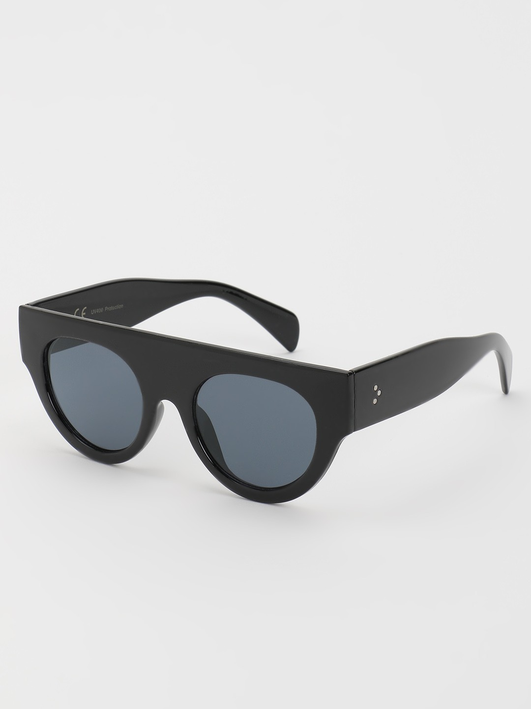 KOOVS Black Tinted Lens Retro Sunglasses 1