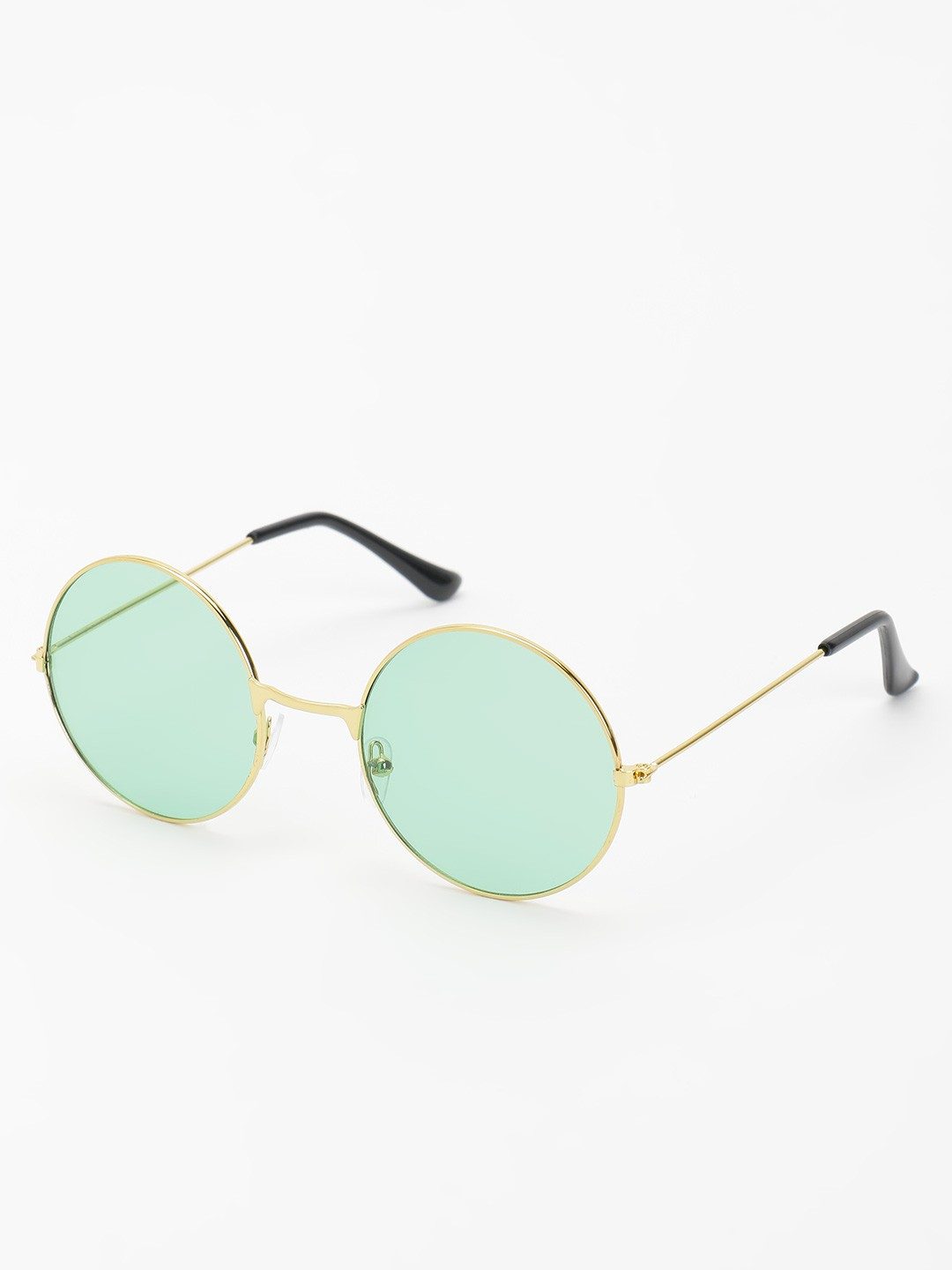 KOOVS Green Coloured Lens Round Sunglasses 1