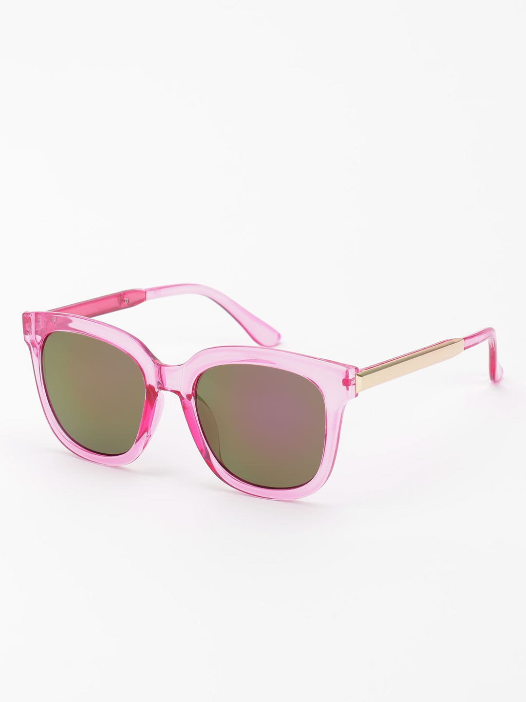 KOOVS Pink Coloured Lens Retro Sunglasses 1