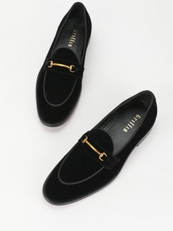 Griffin Horsebit Suede Loafers