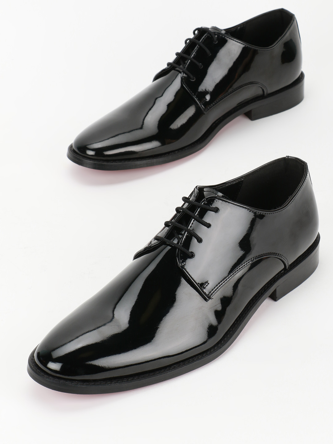 Griffin Black Patent Derby Formal Shoes 1