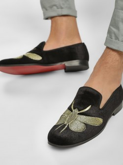 Griffin Bee Embroidered Loafers