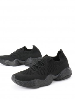 KOOVS Lace Up Flyknit Trainers