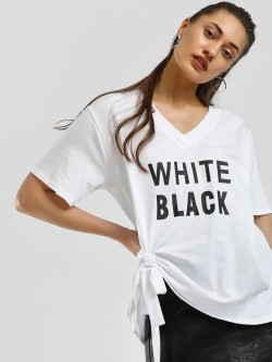 KOOVS Text Print Oversized T-Shirt
