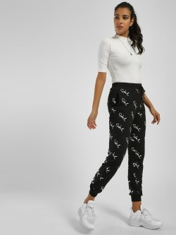 KOOVS Girls Scribble Print Joggers