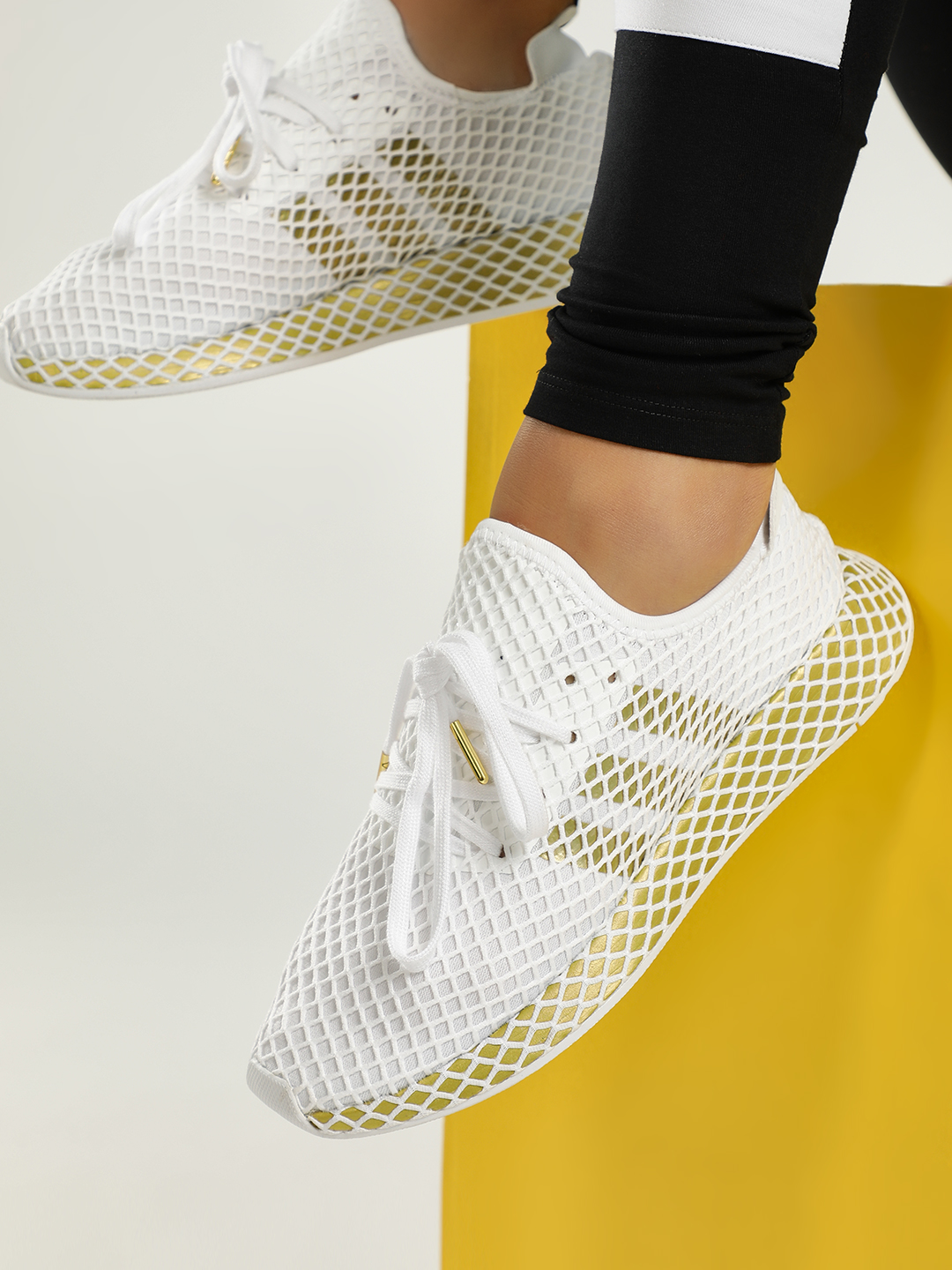Adidas Originals White Deerupt Runner Shoes 1