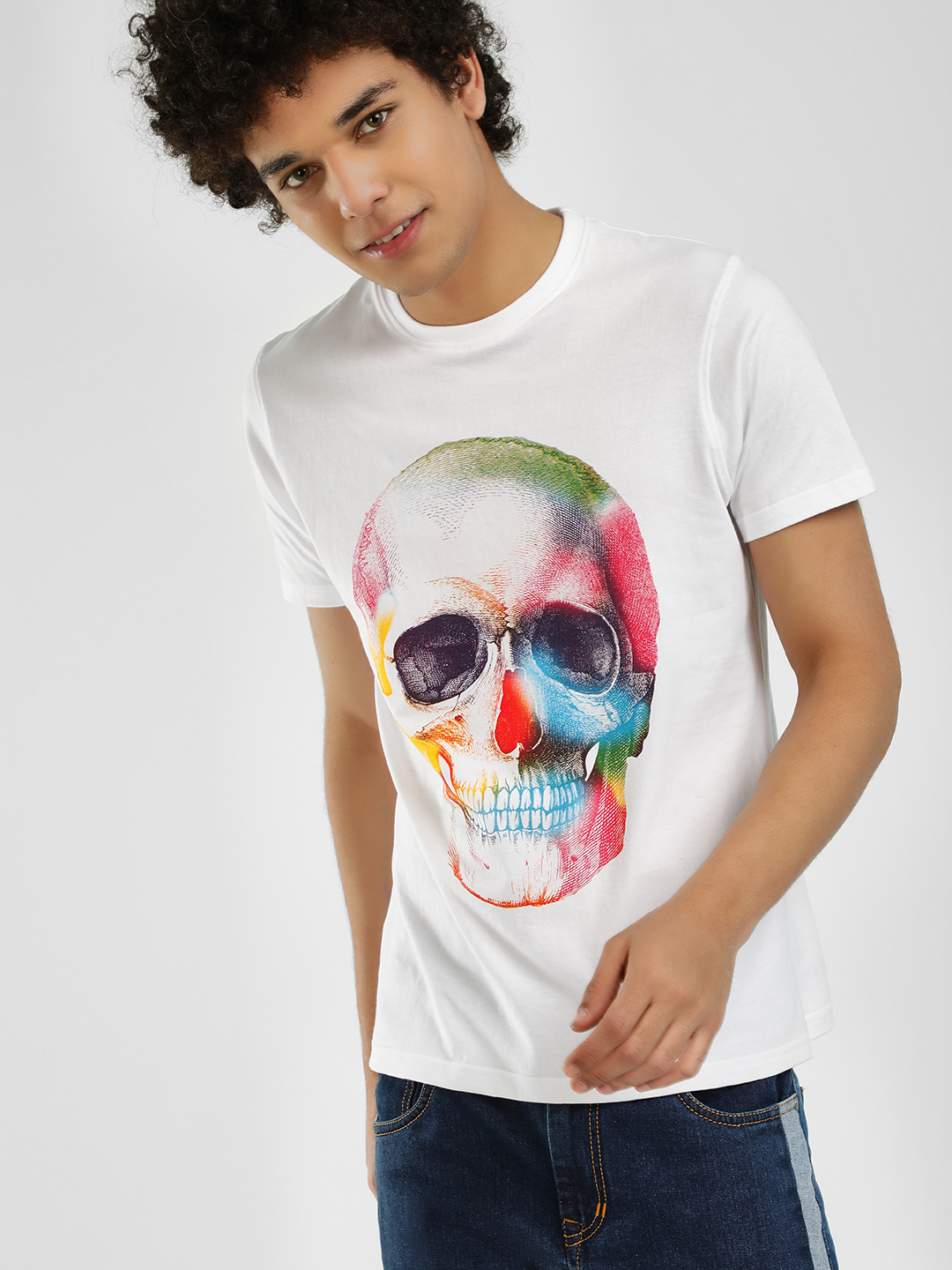 Garcon White Skull Print Short Sleeve T-Shirt 1
