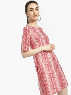 Femella Snake Print Shift Dress