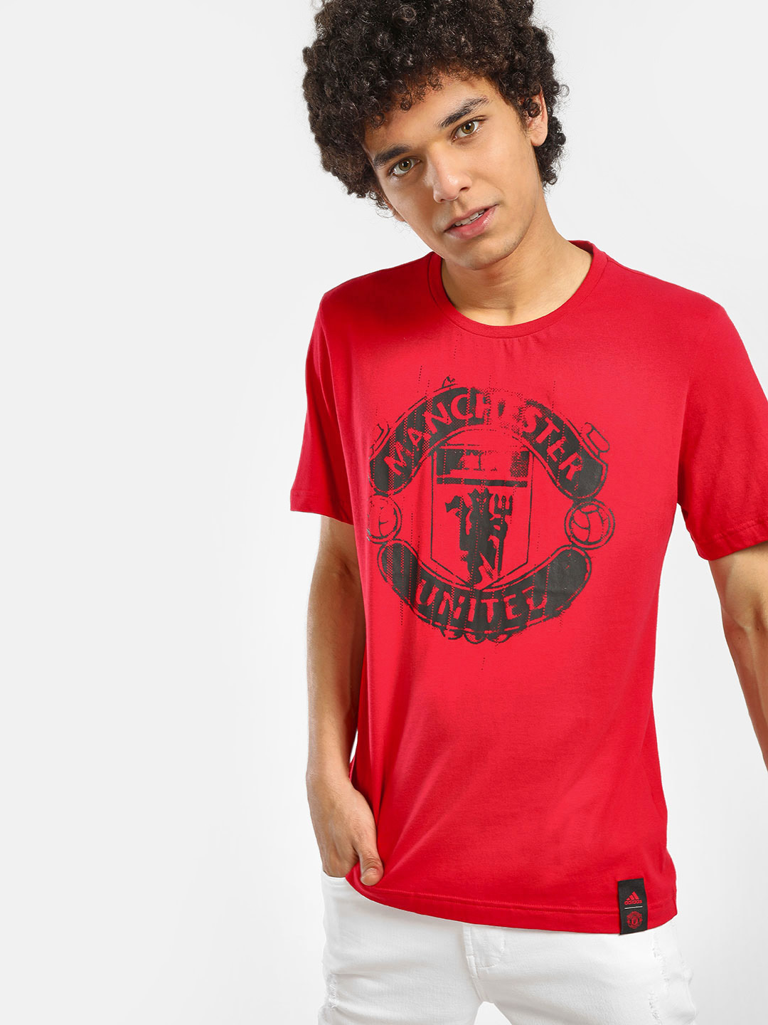 Adidas Red Manchester United DNA Graphic T-Shirt 1