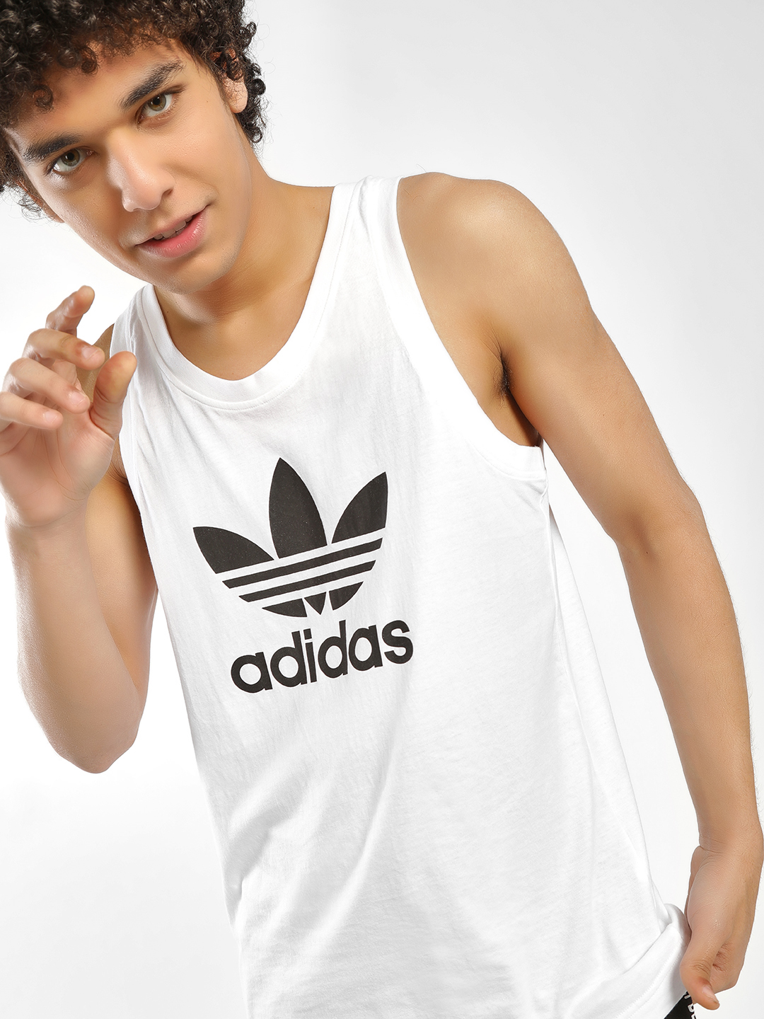 Adidas Originals White Trefoil Tank Top 1