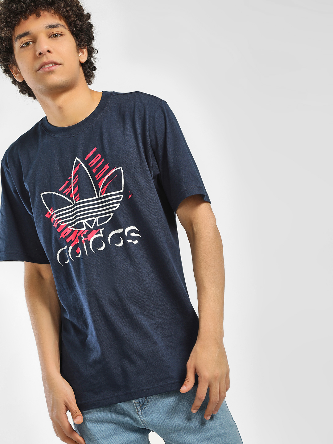 Adidas Originals Blue Trefoil Art T-Shirt 1
