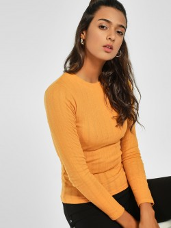 New Look Long Sleeve Ribbed Top
