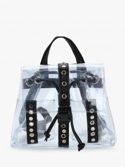 Paris Belle Perspex Stud Detail Backpack