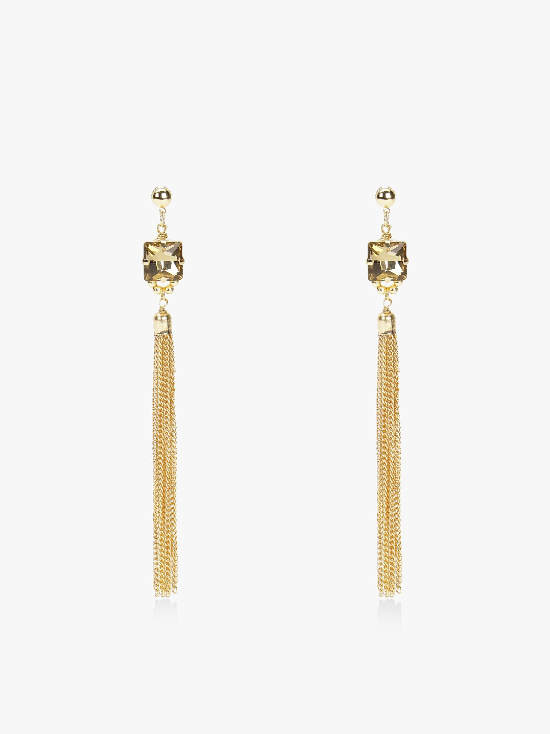 Blueberry Gold Gold Tone Crystal Detail Earrings 1