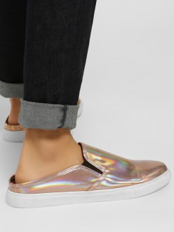 KOOVS Backless Metallic Casual Shoes