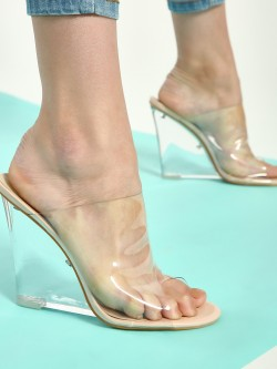 Intoto Clear Mule Wedges