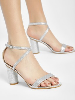 Intoto Chunky Glitter Heeled Sandals