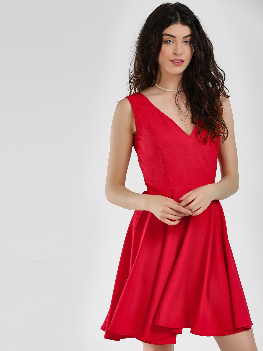 Ri-Dress Red Sleeveless Skater Dress 1