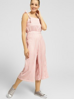 KOOVS Gingham Check Sleeveless Jumpsuit