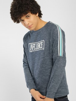 KOOVS Influence Print Knitted Sweatshirt
