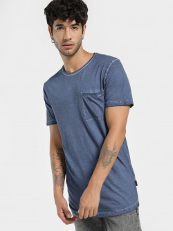 KOOVS Pigment Wash Pocket T-Shirt
