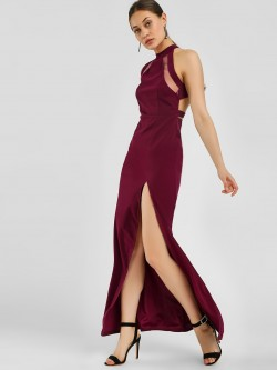 Ax Paris Halter Neck Maxi Dress