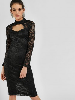 Ax Paris Floral Lace Bodycon Dress