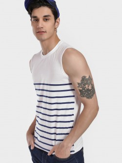 Blotch Stripe Block Sleeveless T-Shirt