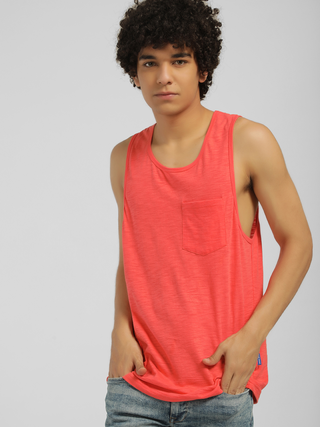 Blue Saint Pink Patch Pocket Longline Vest 1