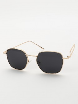 Sneak-a-Peek Metallic Frame Classic Sunglasses