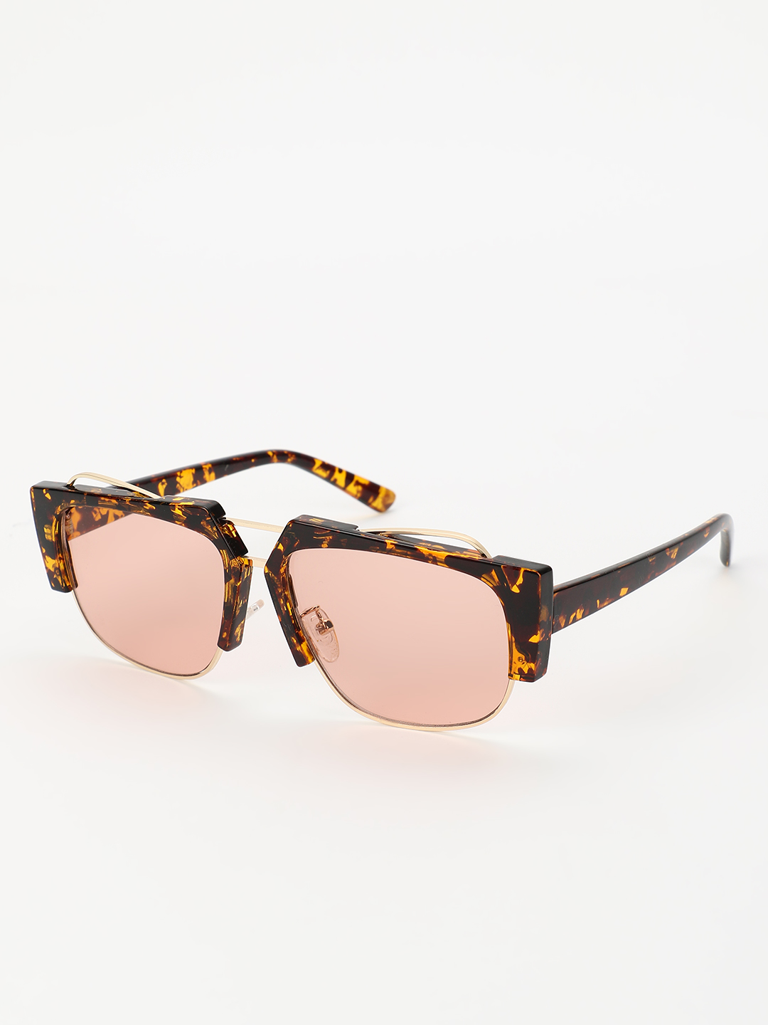 Sneak-a-Peek Brown Leopard Frame Coloured Classic Sunglasses 1
