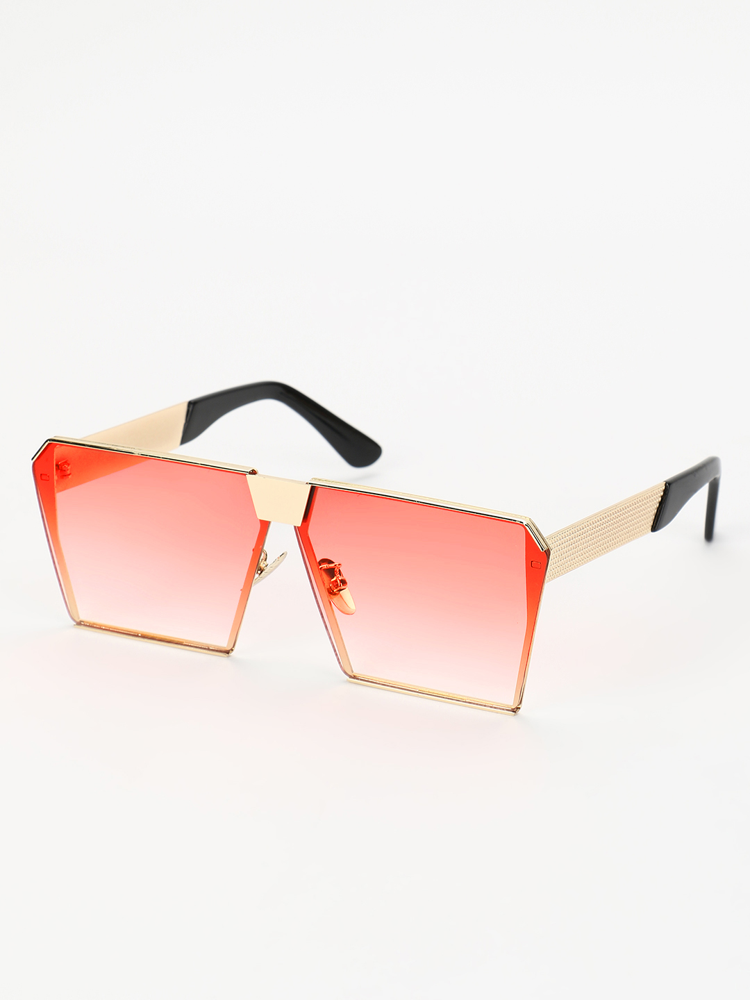 Sneak-a-Peek Red Ombre Shaded Retro Sunglasses 1