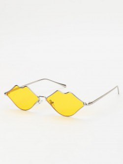 Sneak-a-Peek Lip Shaped Retro Sunglasses