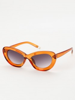 Sneak-a-Peek Retro Wide Frame Sunglasses
