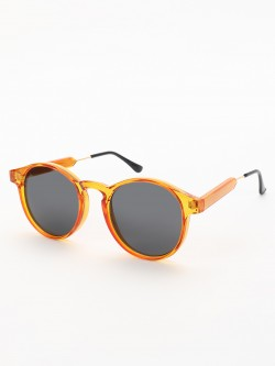 Sneak-a-Peek Coloured Frame Round Sunglasses