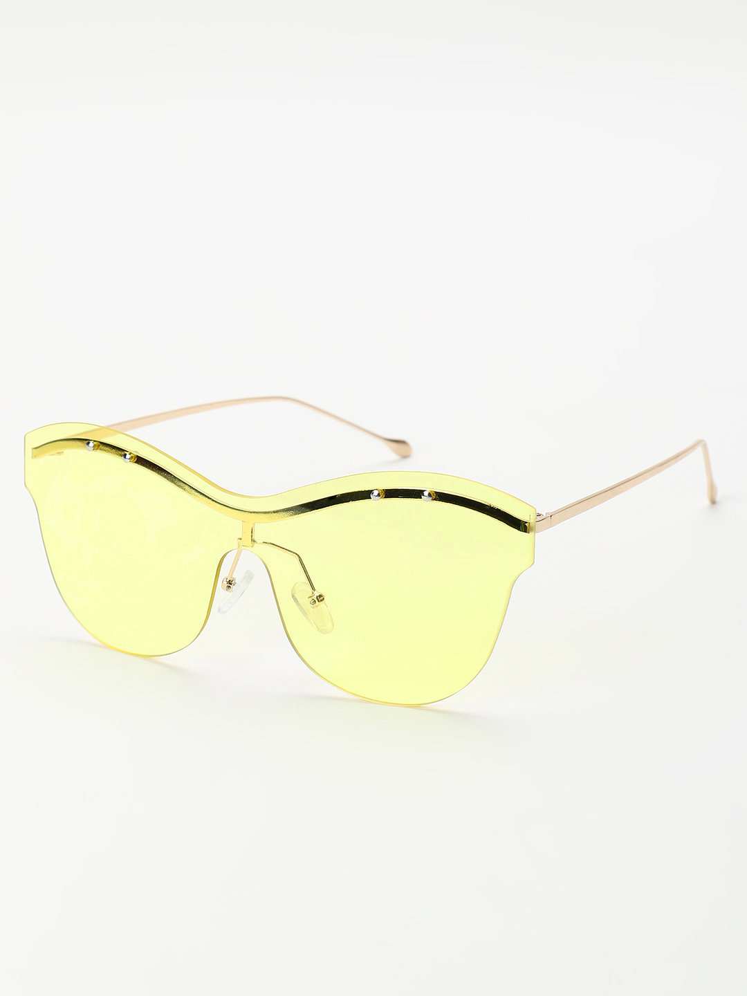 Sneak-a-Peek Yellow Eyebrow Detail Cateye Sunglasses 1