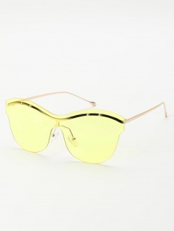 Sneak-a-Peek Eyebrow Detail Cateye Sunglasses