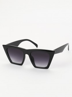 Sneak-a-Peek Shaded Wide Frame Retro Sunglasses
