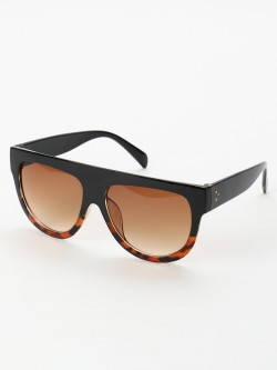 Sneak-a-Peek Wide Leopard Frame Retro Sunglasses
