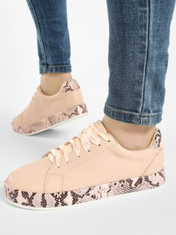 My Foot Couture Snake Print Sole Detail Sneakers