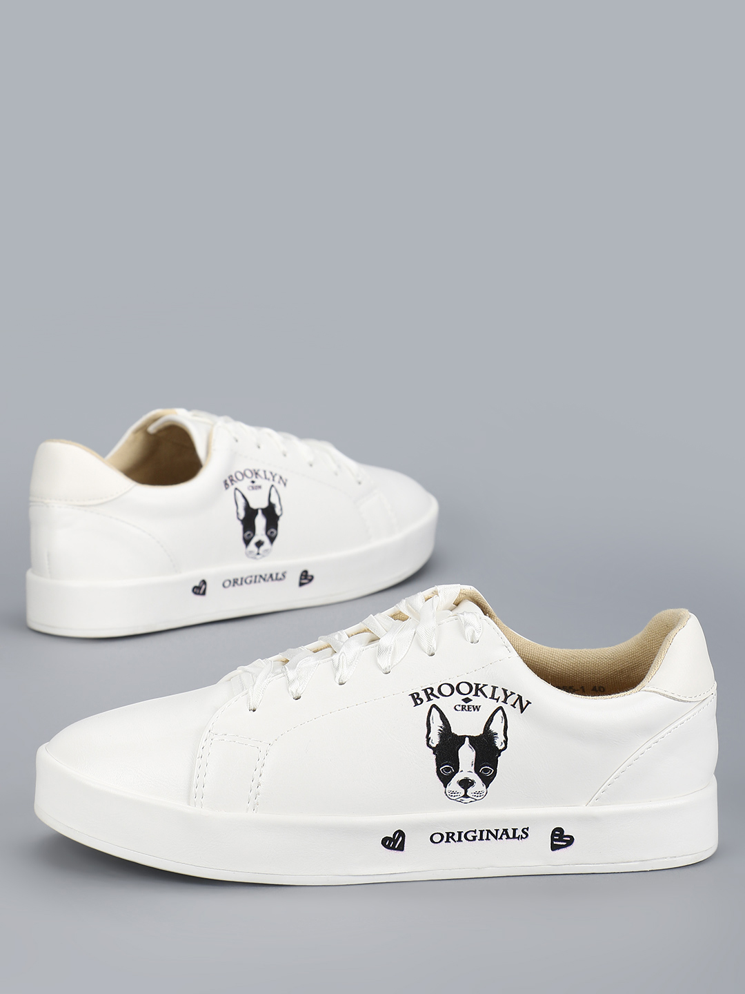 My Foot Couture White Casual Side Print Sneakers 1